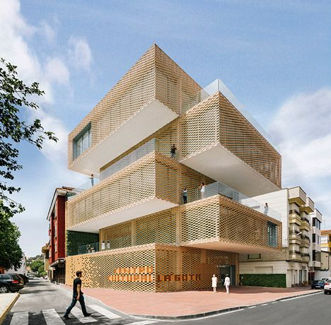 Modern Architectural Forms stacked blocks form spanish tobacco and art museum | cultural