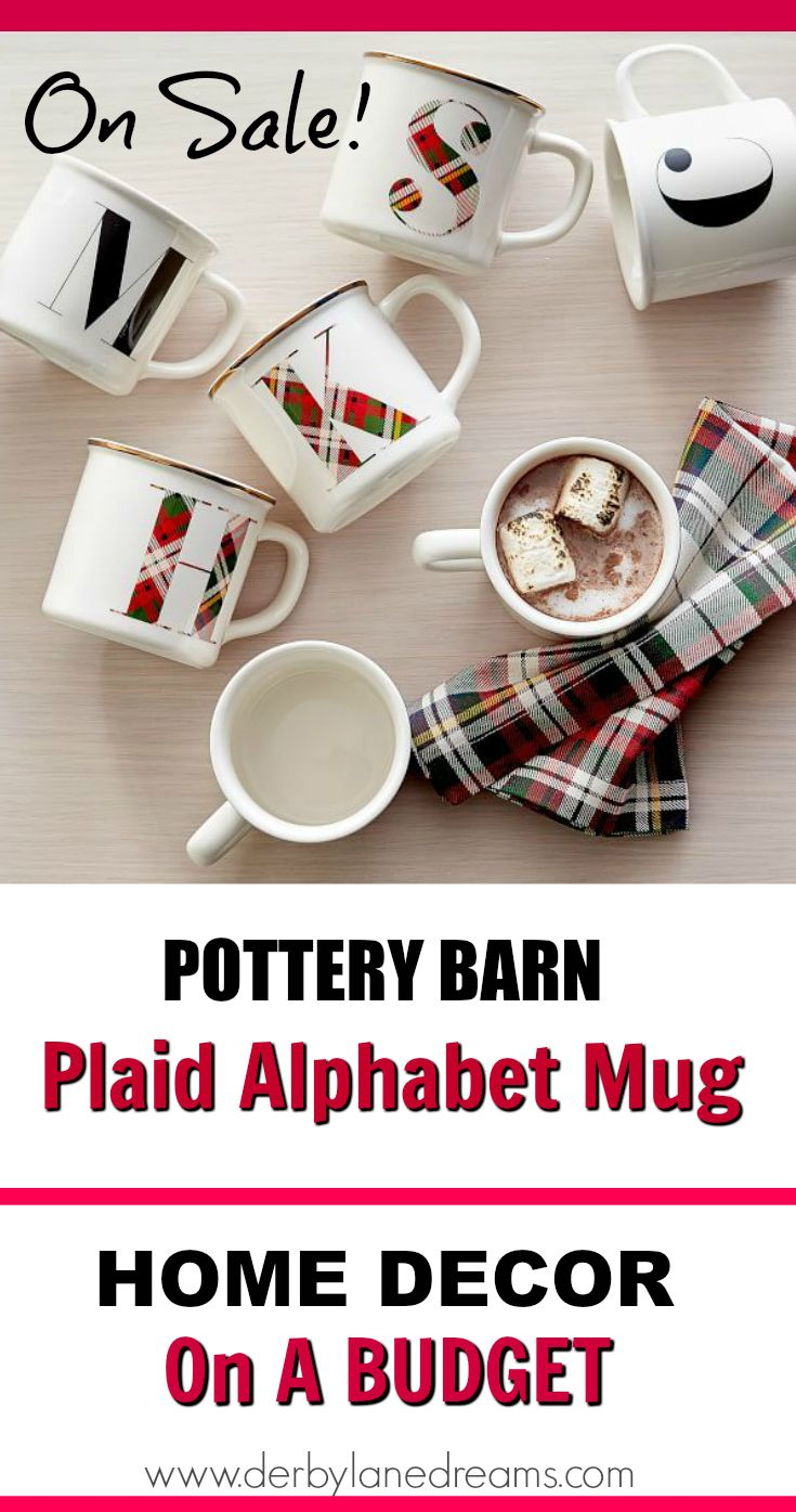 Pottery Barn Plaid Mugs On Sale Get Them Before They Are