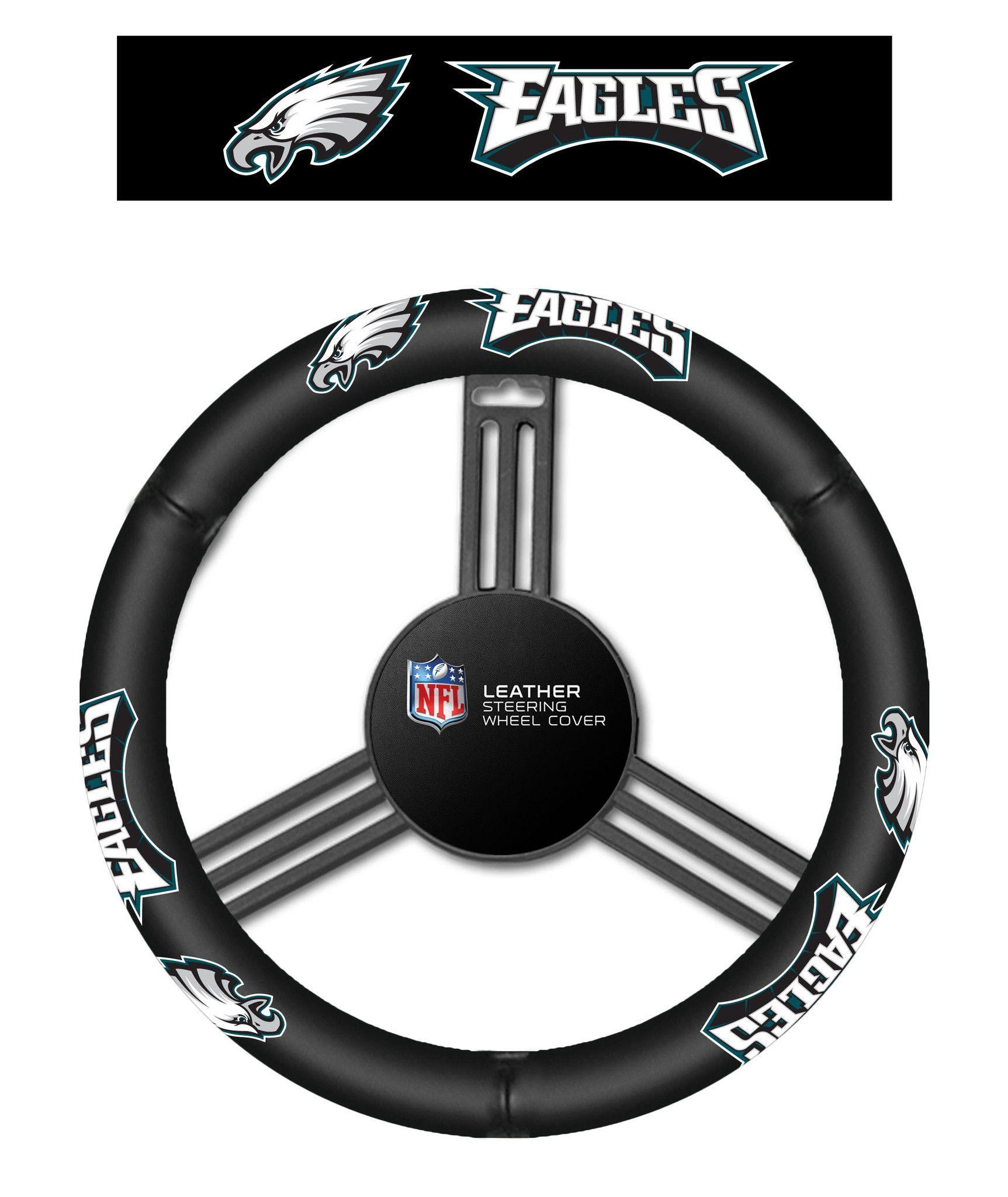 Philadelphis Eagles Leather Steering Wheel Cover