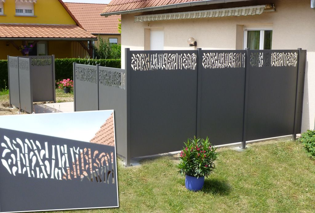 brise vue alu avec d coupes laser am nagement jardin. Black Bedroom Furniture Sets. Home Design Ideas
