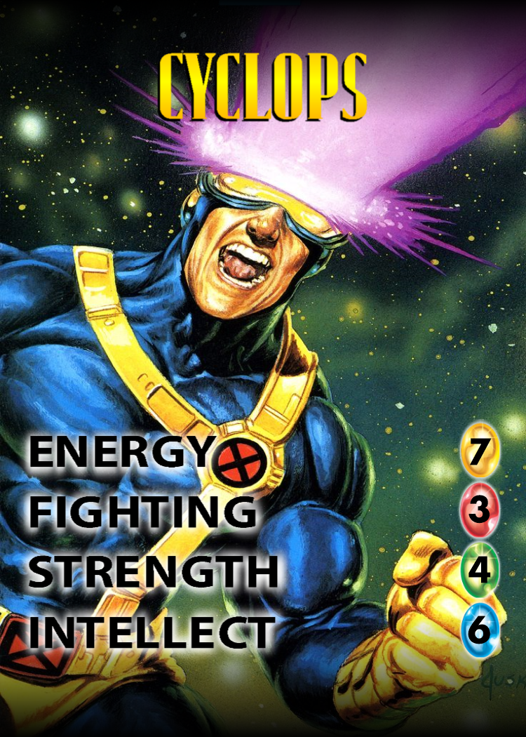 Cyclops OverPower Character card Marvel cards, Marvel