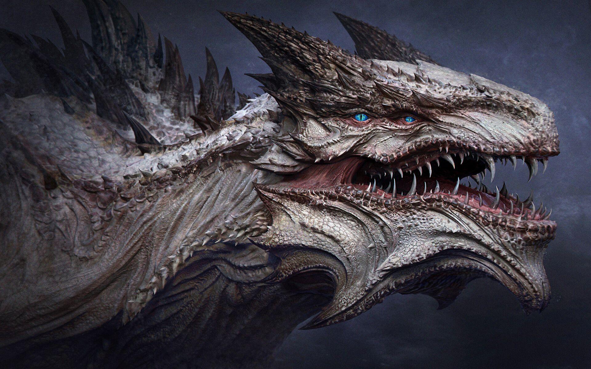 картинки реалистичные драконы черный сокол