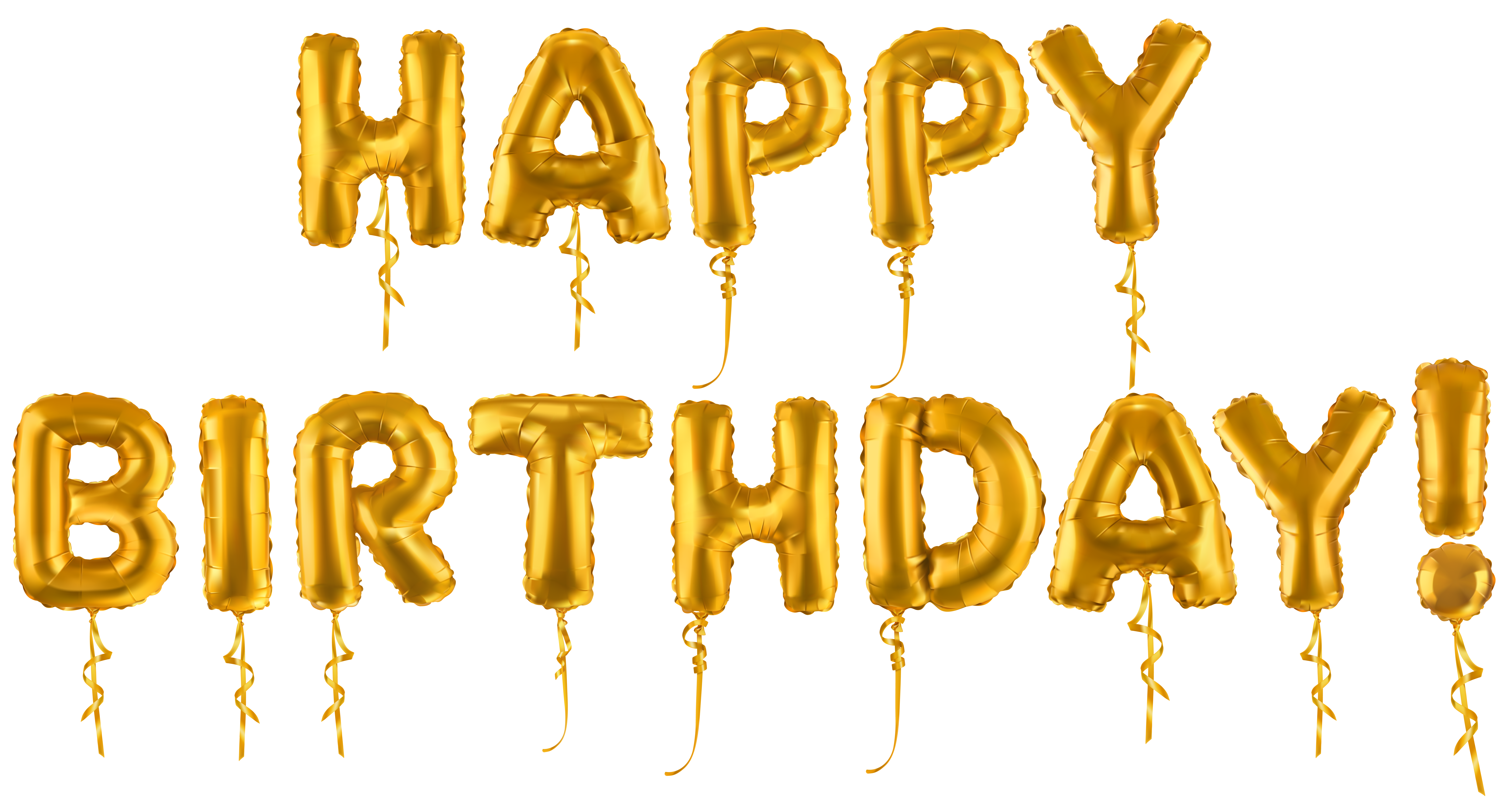 Happy Birthday Gold Balloons Text Transparent Image Gallery Yopriceville High Quality Images And Tran Balloons Text Happy Birthday Png Happy Birthday Text