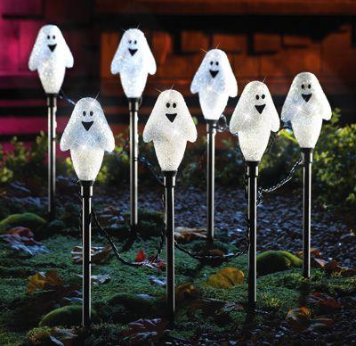 friendly ghost halloween garden pathway lights - Halloween Pathway Lights