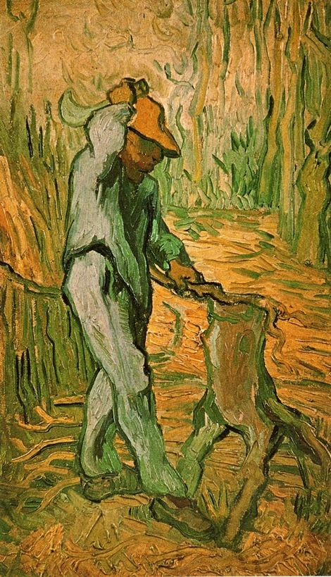 Vincent van Gogh,  the Woodcutter (after Millet)