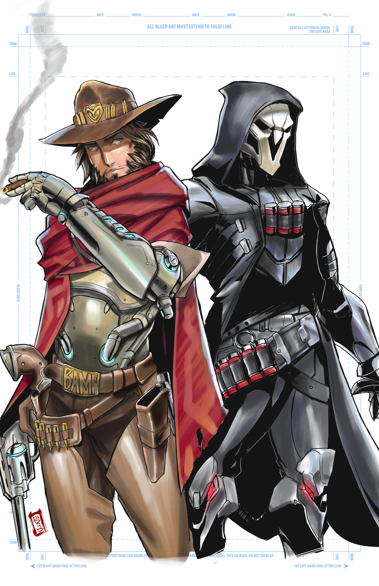 Overwatch Mccree And Reaper By Ericmartindood Mccree Overwatch Reaper