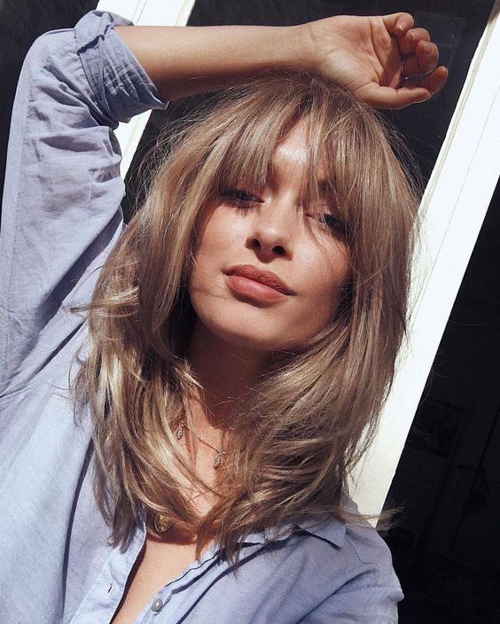 18+ Shoulder length haircuts with bangs inspirations