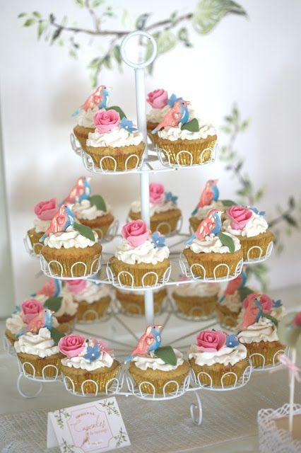 Cupcake: My lovely tea-party cupcakes.