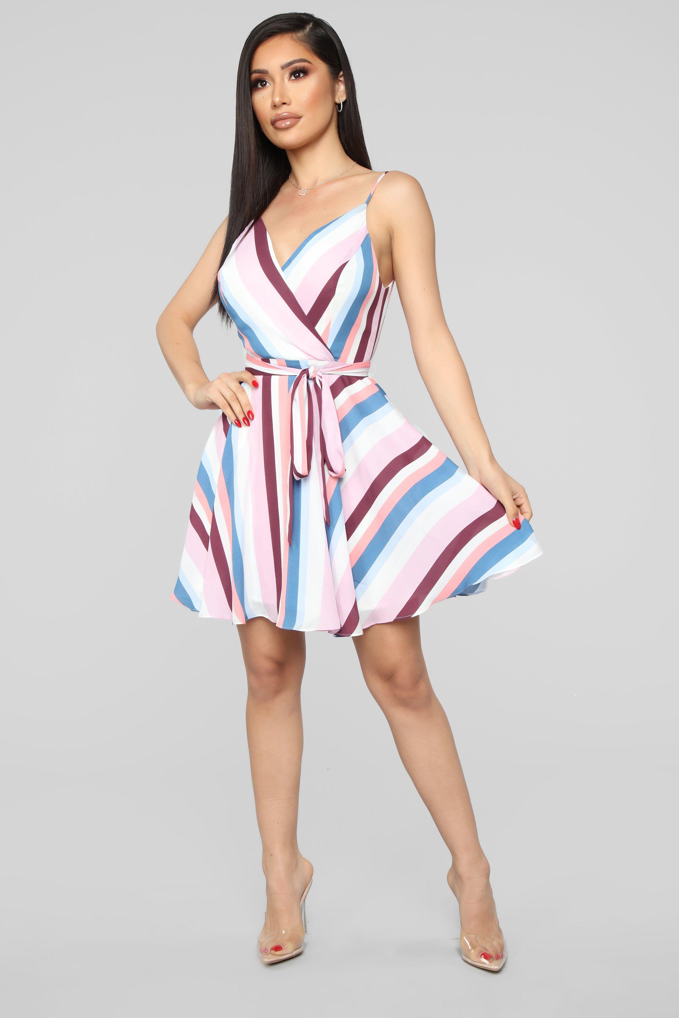 9091a1c2f33 Miss Flirty Multi Stripe Dress - Multi in 2019