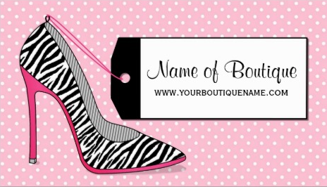 Fashion boutique pink and black zebra stilettos business cards http fashion boutique pink and black zebra stilettos business cards http zazzle reheart Images