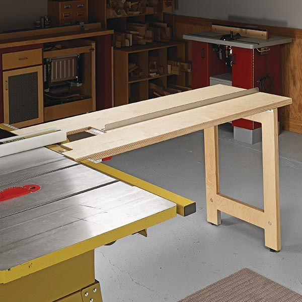 Table Saw Infeed Table Woodsmith Tips woodworkingtips Table Saw