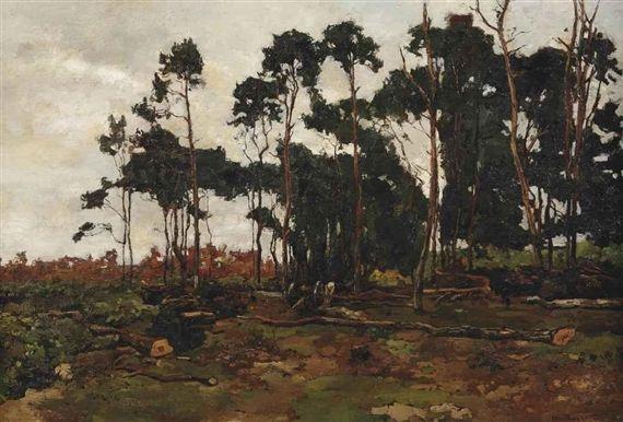 Willem de Zwart, Woodworkers in a forest 1902