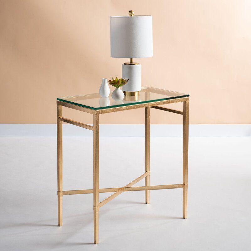 Reynaldo End Table Reviews Joss Main Glass Top End Tables Chair Side Table Glass Side Tables