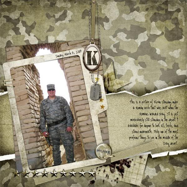 Army Scrapbook Album Ideas Military Scrapbooking Layouts Camo