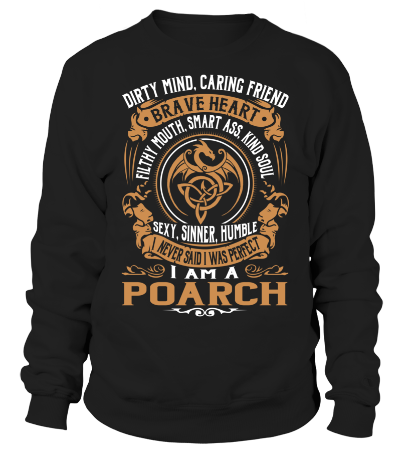 POARCH Brave Heart Last Name T-Shirt #Poarch