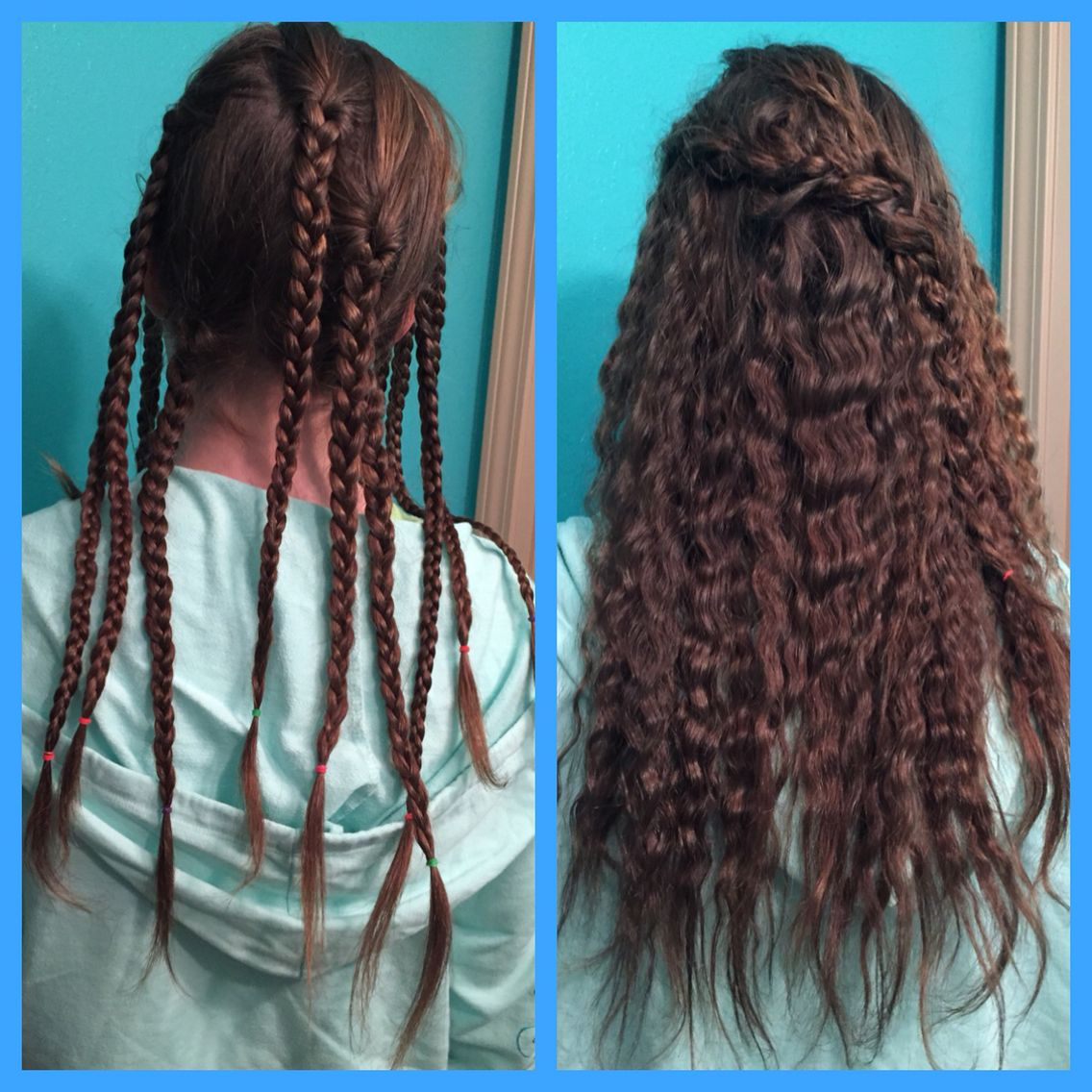 How To Crimp Your Hair Without A Crimping Iron Put All Of Your Hair In Little Braids Before You Go To B Crimped Hair Tutorial Hair Styles Overnight Hairstyles