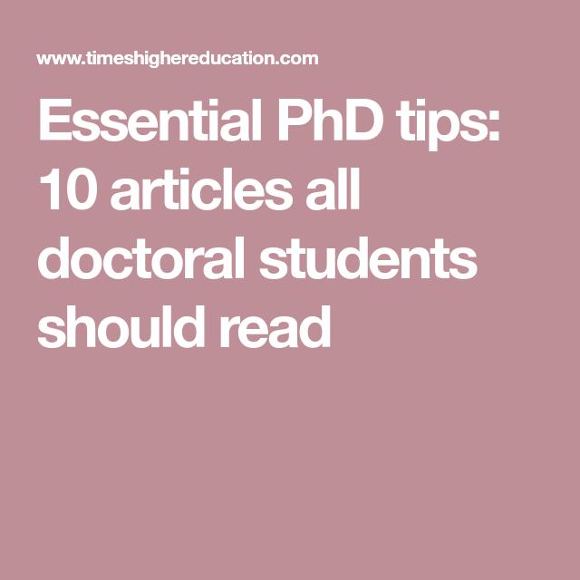 Phd dissertations online read