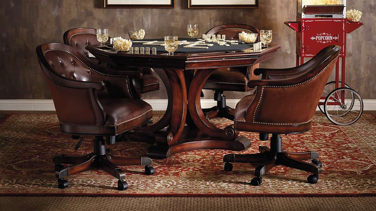 Edison Game Table and Set of Four Chairs | Game table and ...