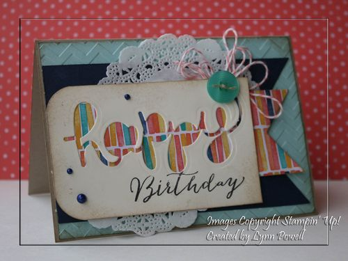 Birthday card using Hello You Thinlets Die from SU