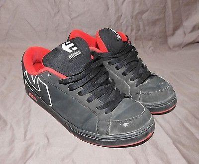 8a55093a01 Used Worn Trashed Etnies Kingpin SMU Black Red Mens 13 Skate Skater Shoes  Kicks