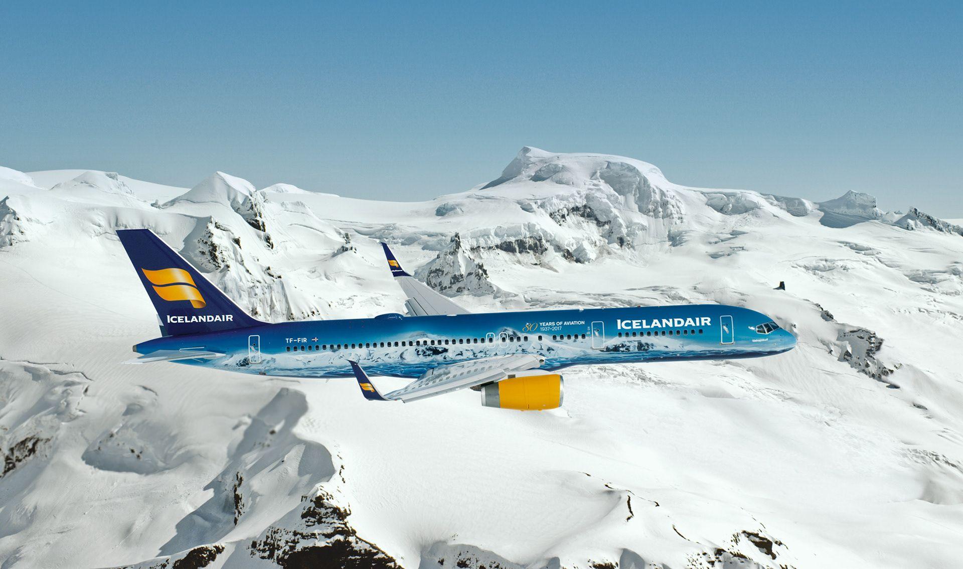 Icelandair Boeing B757 200 Vatnajökull Aviation Airplane Boeing Airplane Window