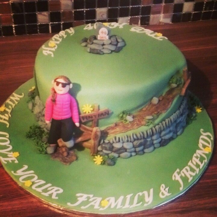 Hiking Cake: Penyfan Mountain Climbing Cake, Walking, Hiking, Trekking
