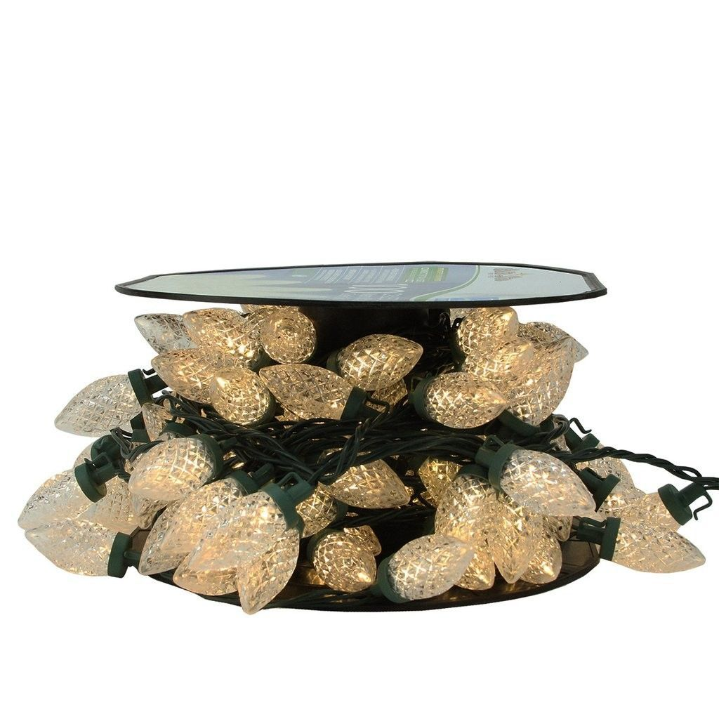 100 Piece Commercial Length Led Faceted C9 Christmas Light On Spool Set C9 Christmas Lights Christmas Lights Northlight