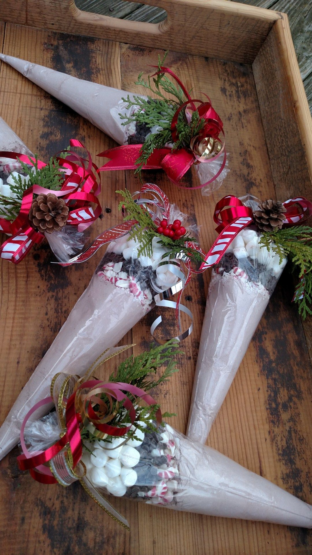 Hot Chocolate Cones | hot chocolate gifts | Christmas, Christmas ...