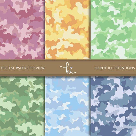 image about Camo Printable Paper called Camouflage Electronic Paper, Camo Electronic Paper, Easter Pastel