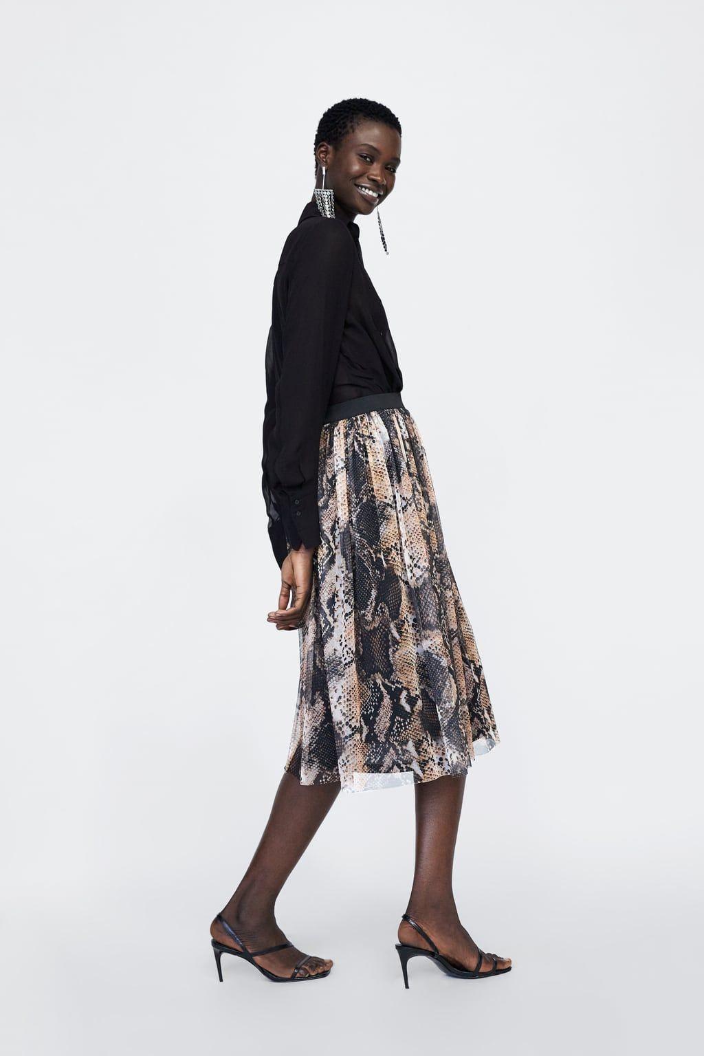7c6f18c1b9 Image 6 of SNAKESKIN PRINT SKIRT from Zara | shopping in 2019 ...