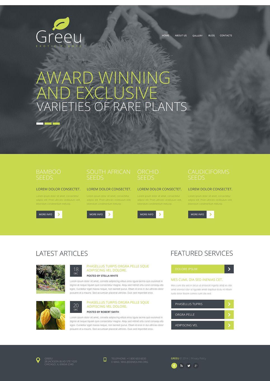 Garden Design Responsive Joomla Template | Template