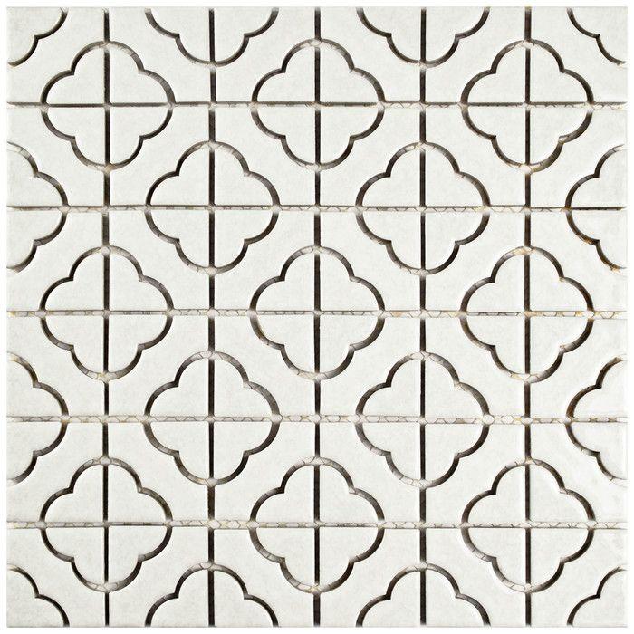 EliteTile Castle 11.75'' x 11.75'' Porcelain Mosaic Tile in White & Reviews | Wayfair