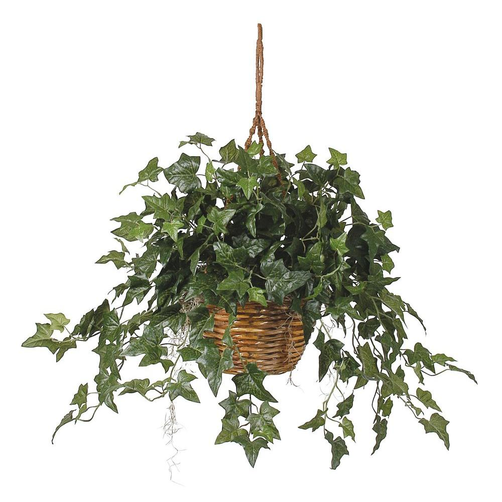 English Ivy Hanging Basket Silk Plant Green