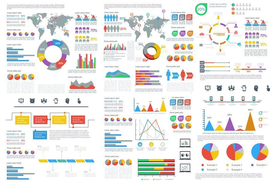 infographics template illustrations creative market