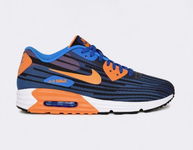 Men's Nike Air Max Lunar 90 JCRD Running Shoes BlackBlue