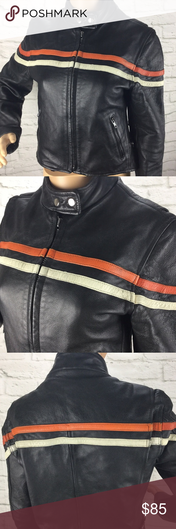 Interstate Leather Motorcycle Jacket S Leather Motorcycle Jacket Jackets Leather Fashion [ 1740 x 580 Pixel ]