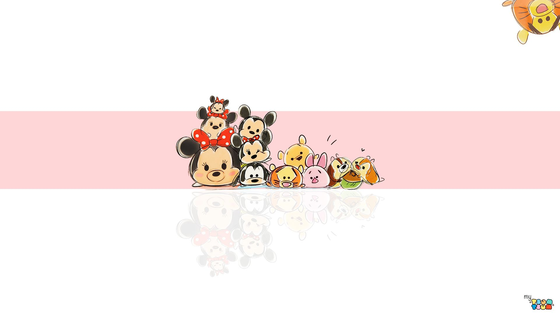 My Tsum Tsum Wallpaper Pink Tsum Tsum Wallpaper Character Wallpaper Disney Tsum Tsum