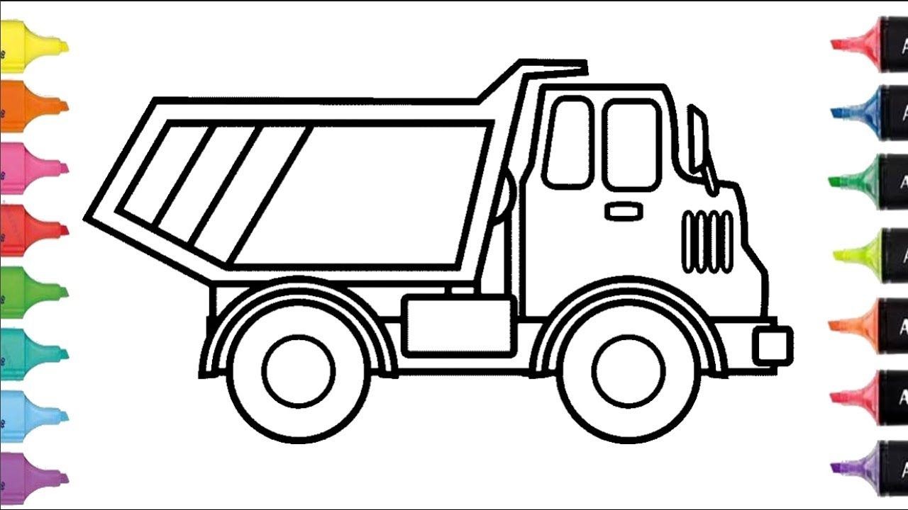 Cómo Dibujar y Colorear una camión de Arco Iris | Dibujos Para Niños ...