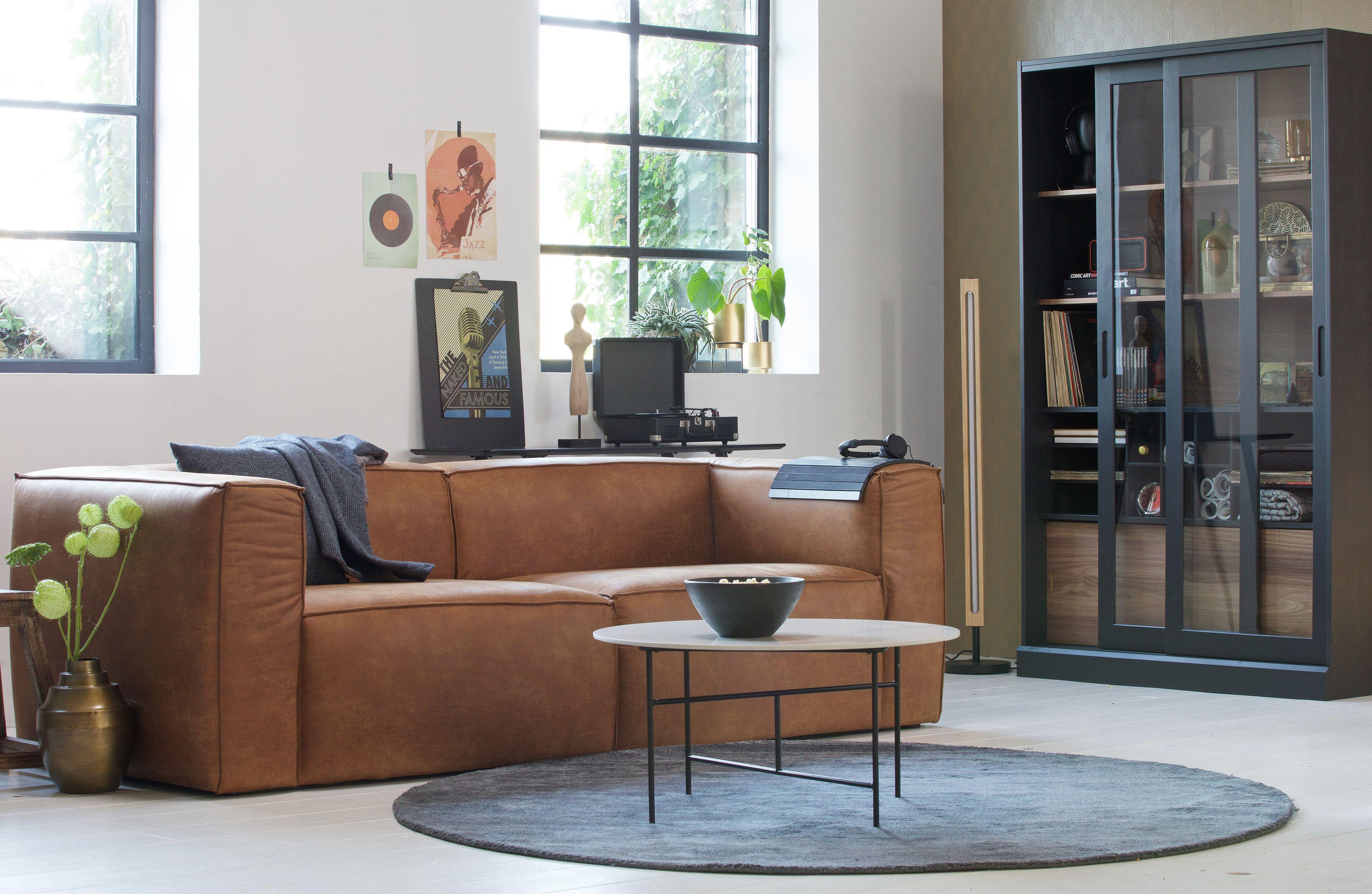 Woood 3 5 Sitzer Sofa Bean Cognac Recyceltes Leder Haus Deko Wohnzimmereinrichtung Wohnzimmer Inspiration