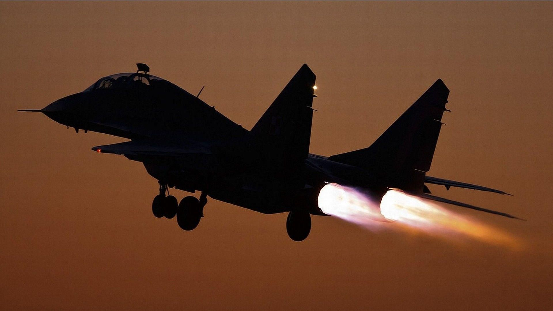 Soviet Jet Fighter Takeoff In Afterburner