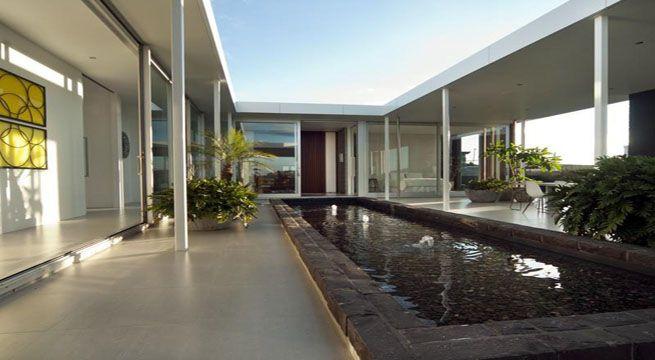Patio interior en casa de un piso de casa en casa - Diseno patio interior ...