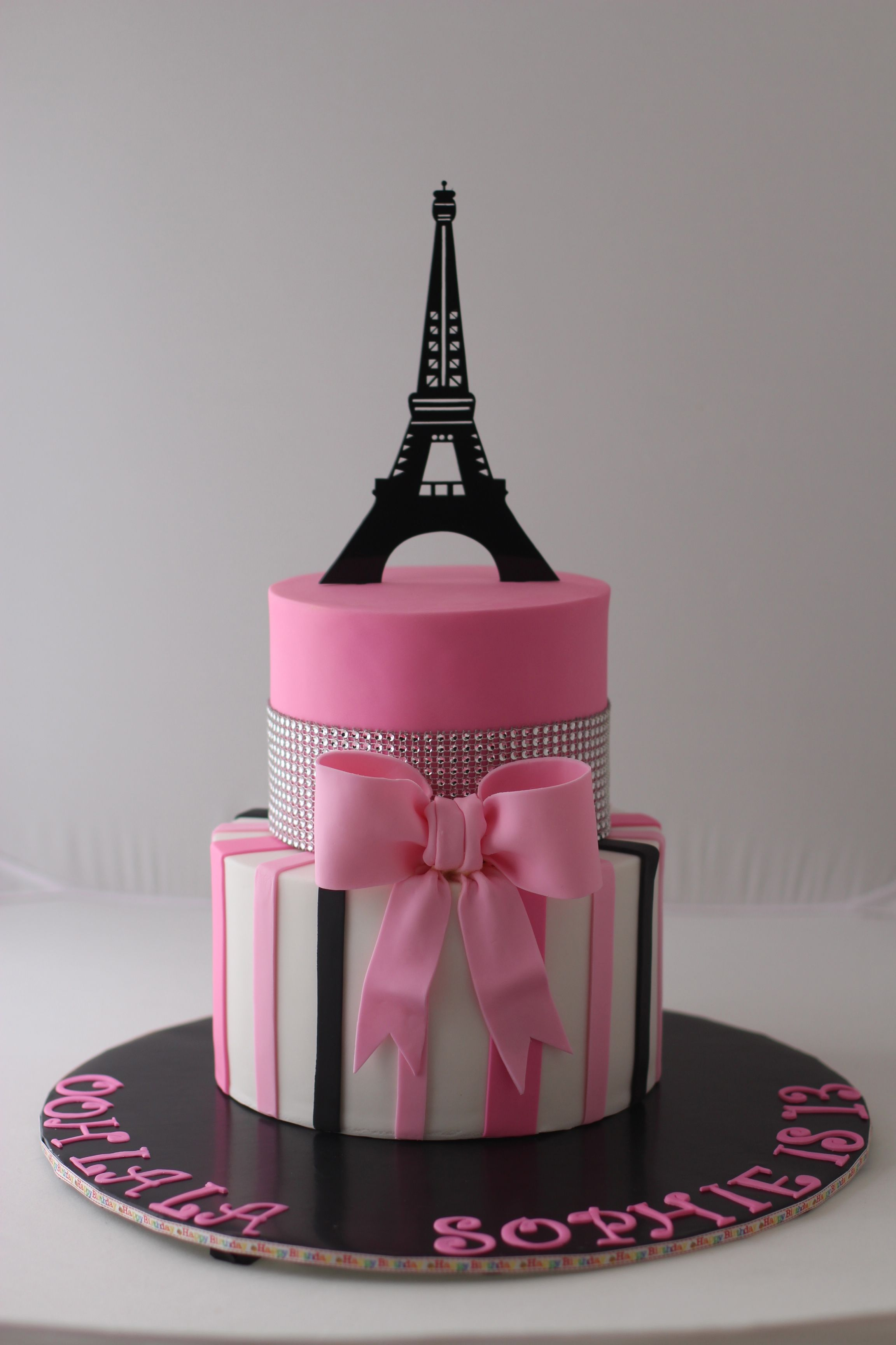 Paris Themed Birthday Cake For A 13 Year Old Girl Thanks For Pinning