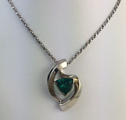 Lab created emerald pendant in white gold call or email for lab created emerald pendant in white gold call or email for information and availability ddjewelry mozeypictures Image collections