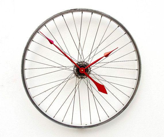 Recycled Bike Wheel Clock Upcycling Gestalten Recyceln