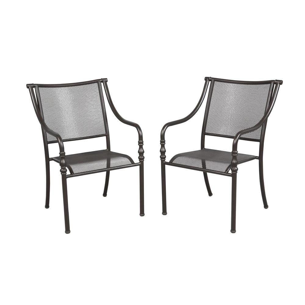 Hampton Bay Andrews Stack Patio Chair     The Home Depot