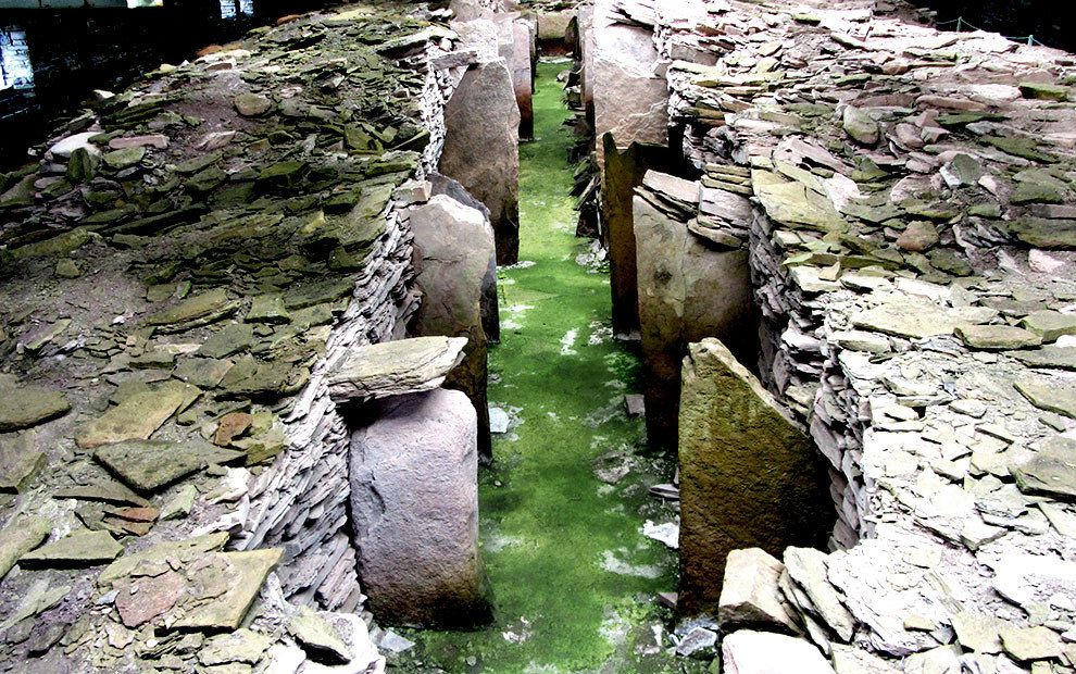 11. Midhowe Chambered Cairn, Orkneys, 3500BC: