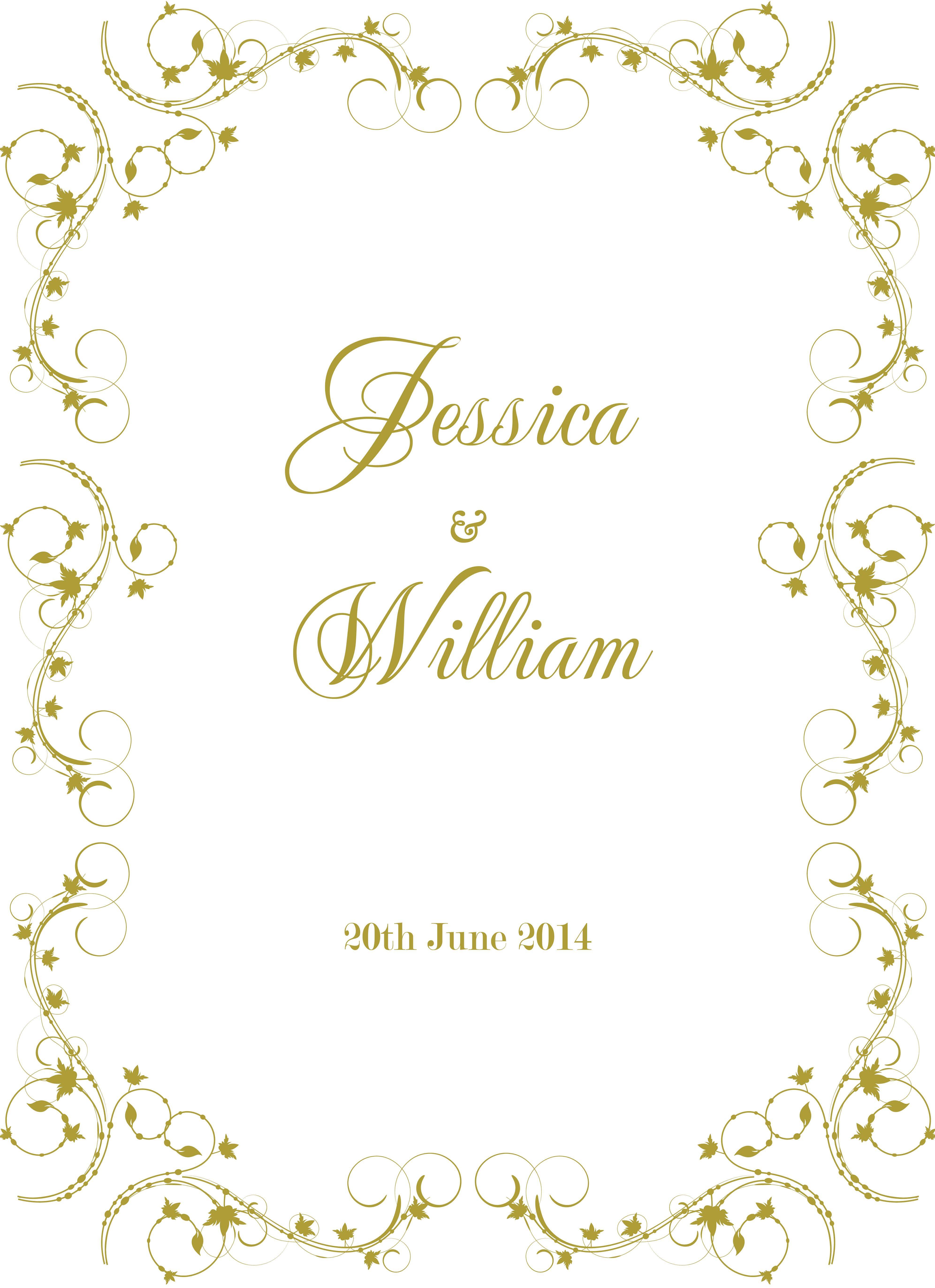 Wedding Border Designs With Images Photo Wedding Invitations