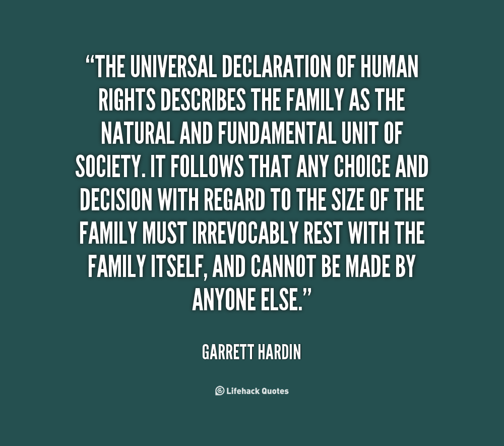 The Universal Declaration Of Human Rights Describes The Family As