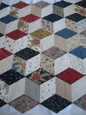 Tumbling Blocks Quilt S Py Quilts 3d Quilts Quilt Blocks Tumbling