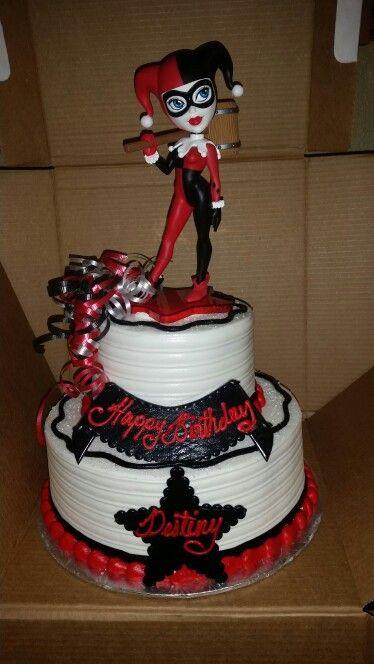Harley Quinn Birthday Cake Harleyquinn Birthdaycake